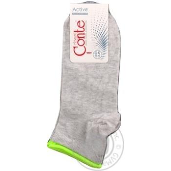 Шкарпетки жін.Conte Elegant Active 035 св.сірий р25 шт - купити, ціни на Novus - фото 3