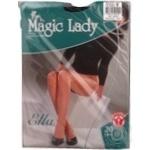 Колготи Magic Lady Ella жіночі чорні 20ден 5р - купити, ціни на МегаМаркет - фото 1