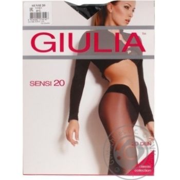 Колготи Giulia занижена талія Sensi 20 vita bassa nero 4