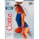 Колготи жiночi Tango Conte 20 розмiр 4 natural
