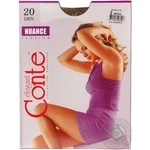 Tights Conte bronze polyamide for women 20den 2size