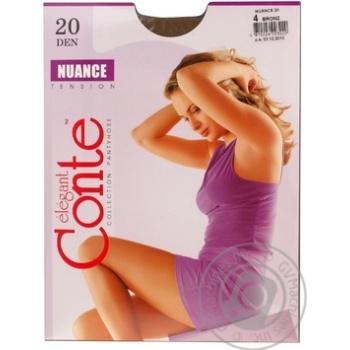 Колготы Conte Nuance 20 Den р.4 bronz шт - купить, цены на Novus - фото 1