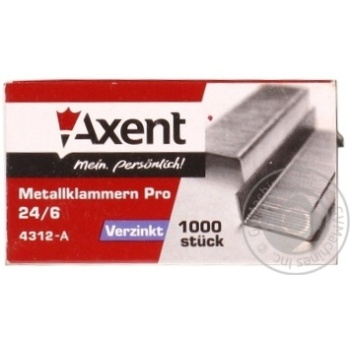 Скоби Axent PRO 24/6 1000шт - купити, ціни на Метро - фото 3