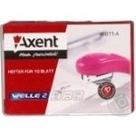 Степлер Axent  Welle-2 пластиковий фіолетовий №24/6 4811