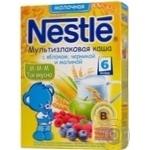 Каша молочна мультизлакова з яблуком чорниця і малина Nestle 200г