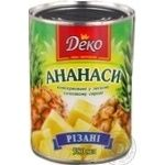 Fruit pineapple Deko canned 580ml can Thailand