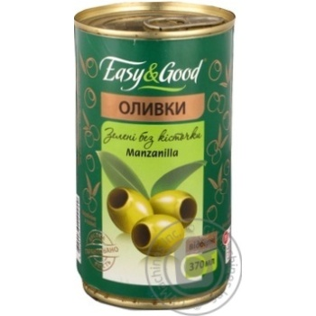 оливка Изи енд гуд Мансанилья зеленый консервированная 370мл железная банка Испания