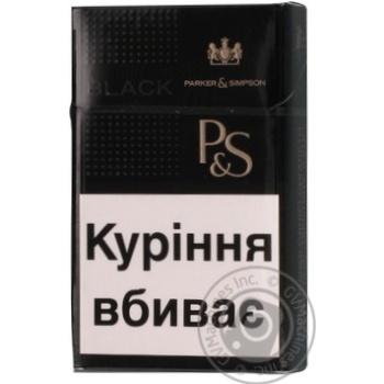 Сигареты Parker&Simpson Black - купить, цены на Фуршет - фото 1