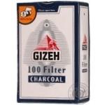 Фільтр д/самокруток Gizeh вугілля пачка 100