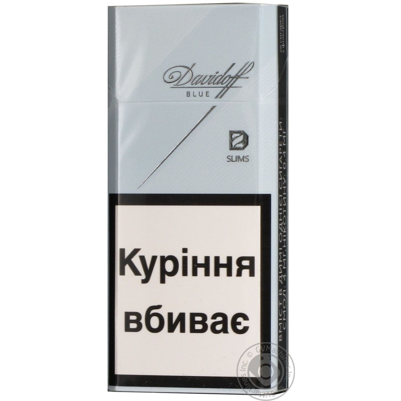 Cigarettes Davidoff Slims blue 25g → Tobacco goods