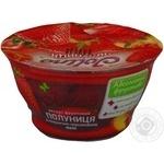 Десерт фруктовий Джоліно Полуниця в полунично-персиковому желе 150г пластиковий стакан Україна