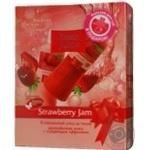 Набор Fresh Juice Гель для душу Пілінг 250мл+Лосьйон для тіла Strawberry Jam