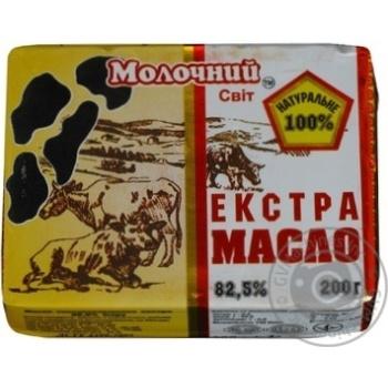 Масло Молочний світ Екстра солодковершкове 82,5% 200г