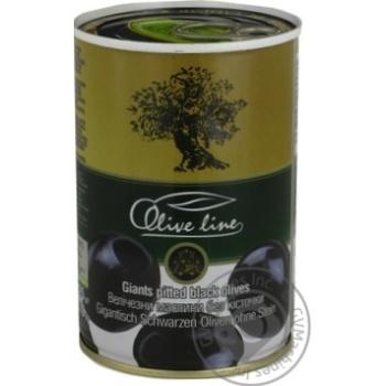 Маслины черные Olive Line большие без косточки 420г