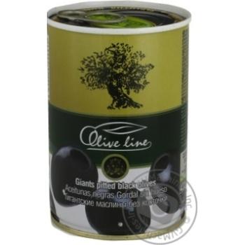 Маслины черные Olive Line большие без косточки 420г - купить, цены на Novus - фото 8