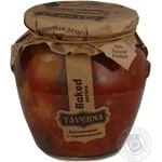 Vegetables eggplant Taverna with prunes canned 580g glass jar