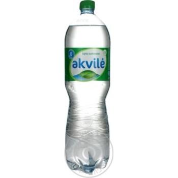 Вода натуральна мінеральна слабогазована Akvile пет 1,5 - купить, цены на Novus - фото 3