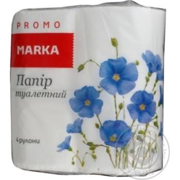 Папір туатетний Marka Promo двошаровий 4шт - купити, ціни на Novus - фото 2