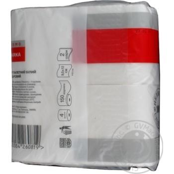 Бумага туалетная Marka Promo двухслойная 4шт - купить, цены на Novus - фото 4