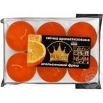 Свечи Pragnis ароматизированные Апельсин 8х12 6шт