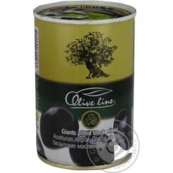 Маслины черные Olive Line большие без косточки 420г - купить, цены на Novus - фото 4
