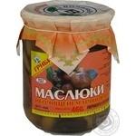 Mushrooms suillus Volyn lis pickled 460g glass jar Ukraine