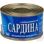Fish sardines Arktika №5 canned 240g can Ukraine