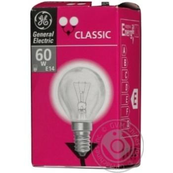 Лампа куля General Electric прозора 60Вт цоколь Е14 - купить, цены на Novus - фото 1