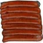 Sausage Rulada Bavarian beef semi-smoked vacuum packing Ukraine