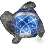 Куля новорічна матова з рельєфним орнаментом Світ Свят 8см