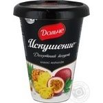Йогурт Дольче Искушение десертный ананас-маракуйя 2.5% 330г пластиковый стакан Украина