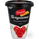 Десерт Дольче Спокуса вишня 2.5% 330г пластиковий стакан Україна