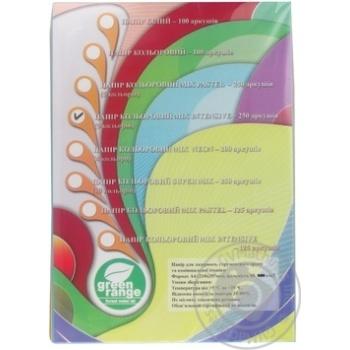 Папір IQ mix intensiv 5 кольорів А4 80г/м.кв. 250 аркушів - купити, ціни на Метро - фото 1