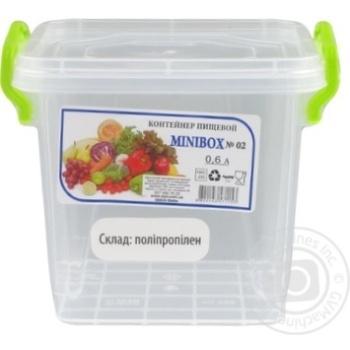 Контейнер пищевой Minibox №2 с крышкой 0,6л - купить, цены на Таврия В - фото 2