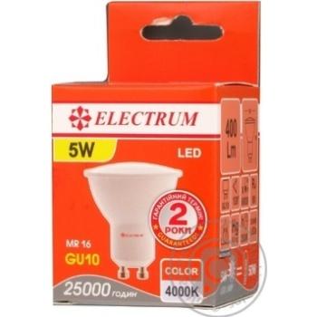 Лампа Eectrum світодіодна MR16 5W LR-26 GU10 4000К мат.ап./к.A-LR-0247 - купить, цены на Novus - фото 2