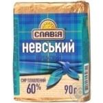 Сир плавлений 60% вершковий Невський Славія 90г