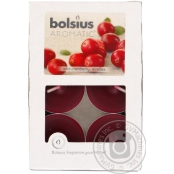 Candle Bolsius cranberry paraffin 6pcs