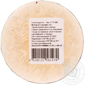 Свічка Рустік Циліндр бежевий арт.С715-080 50 год - купить, цены на МегаМаркет - фото 2