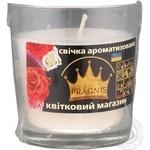 Свеча ароматизированная Pragnis Цветочный магазин в стакане