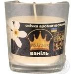 Свеча Pragnis в стакане ваниль 79х83мм