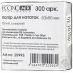 EconoMix Note paper white glued 80X80mm