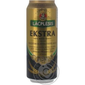 Пиво Lacplesis Ekstra светлое ж/б 5.4% 0.5л