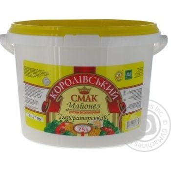 Mayonnaise Korolivsky smak 75% 1800g Ukraine
