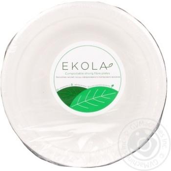 Тарелка Ekola бумажная 17см 10шт/уп - купить, цены на Novus - фото 1
