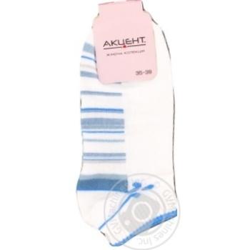 Sock Accent white cotton for women Ukraine