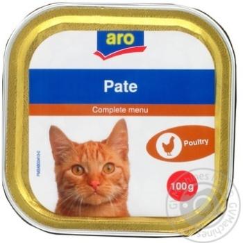 Паштет Aro с мясом птицы для котов 100г