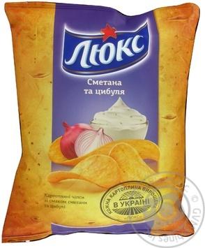 Чипсы Люкс картофельные со вкусом сметаны и лука 71г