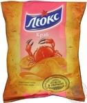 Potato chips Lux with crab taste 71g Ukraine
