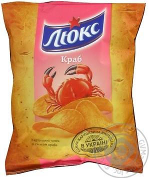 Чипсы Люкс картофельные со вкусом краба 71г Украина