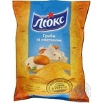 Potato chips Lux with mushrooms and sour cream taste 133g
